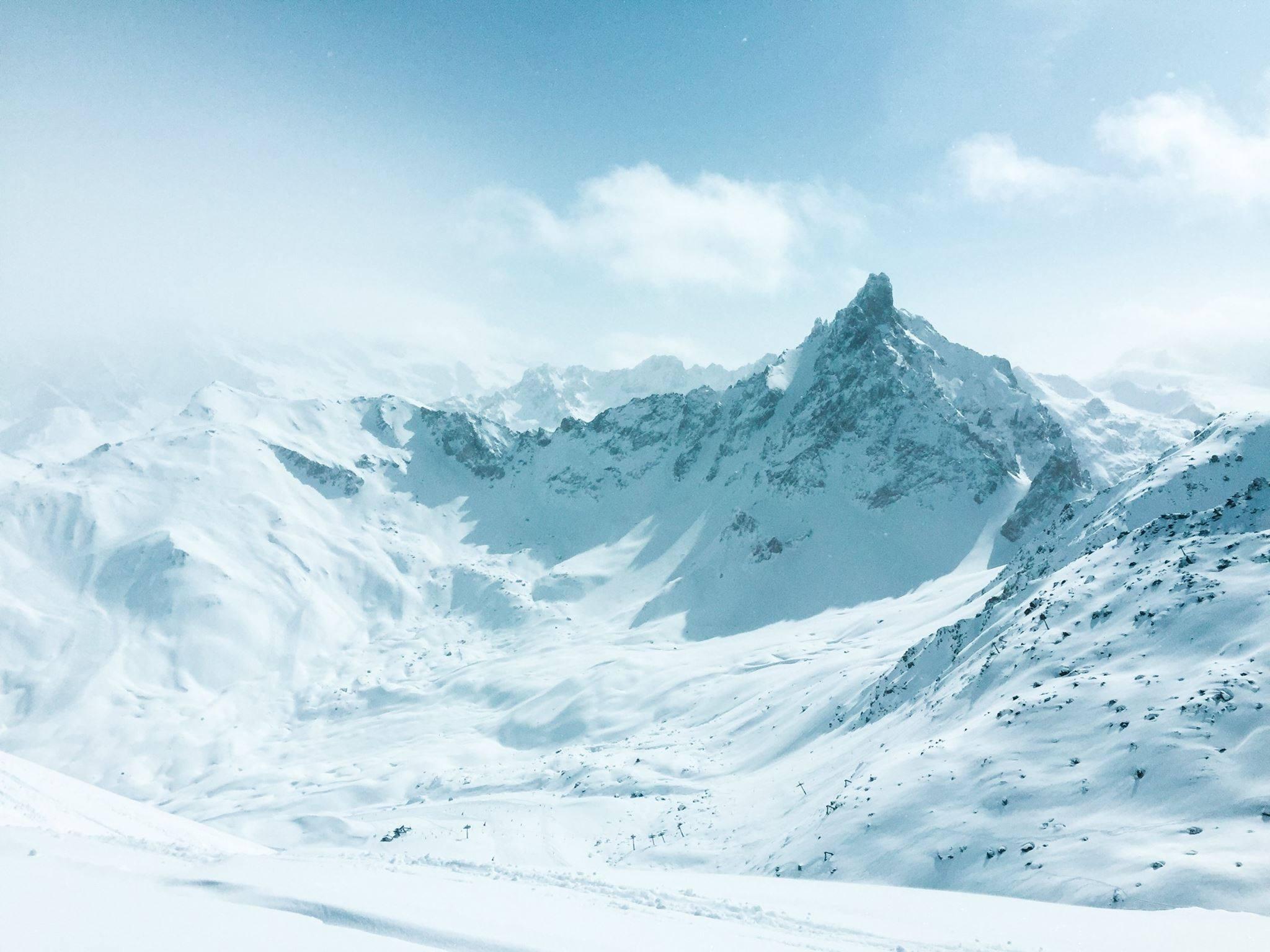 courchevel snow