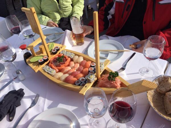 Sushi in the alps